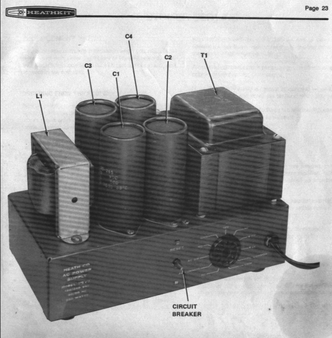 Electronics Kits Mosfet Power Amplifier Schematics Heathkit Ps 23 Supply For Hw 101 Picture
